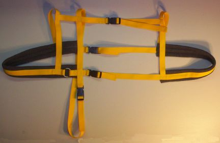 Yellow Harness w/ Dark Gray Padding